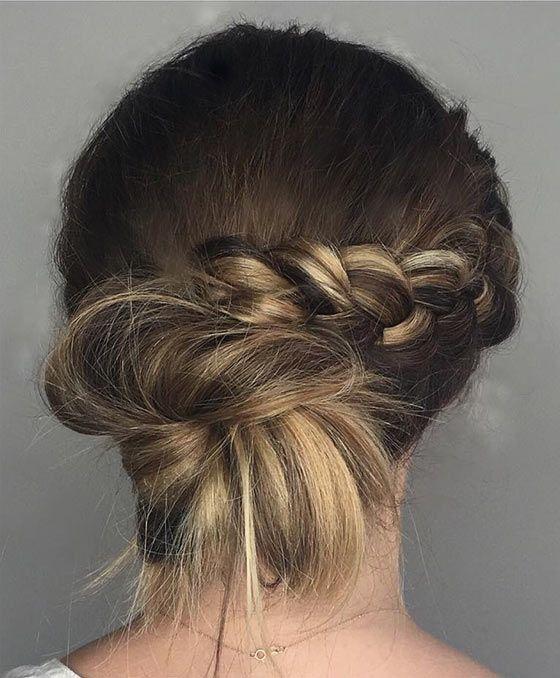 40 quick and easy updos for medium hair  medium hair