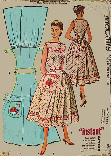 Mccall 2104 Aprons Amp Overwear Vintage Apron Pattern