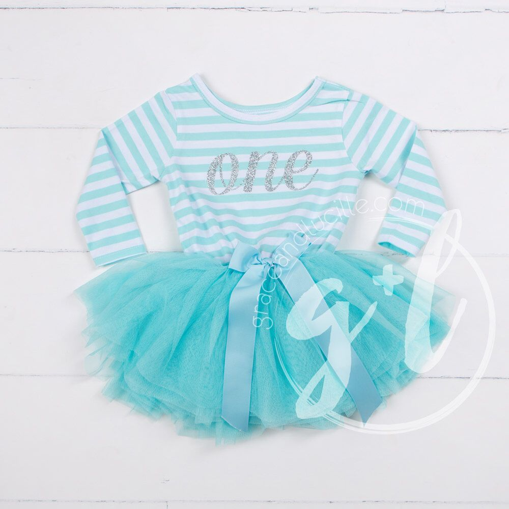 First Birthday dress 1st Birthday Outfit tutu dress Mint
