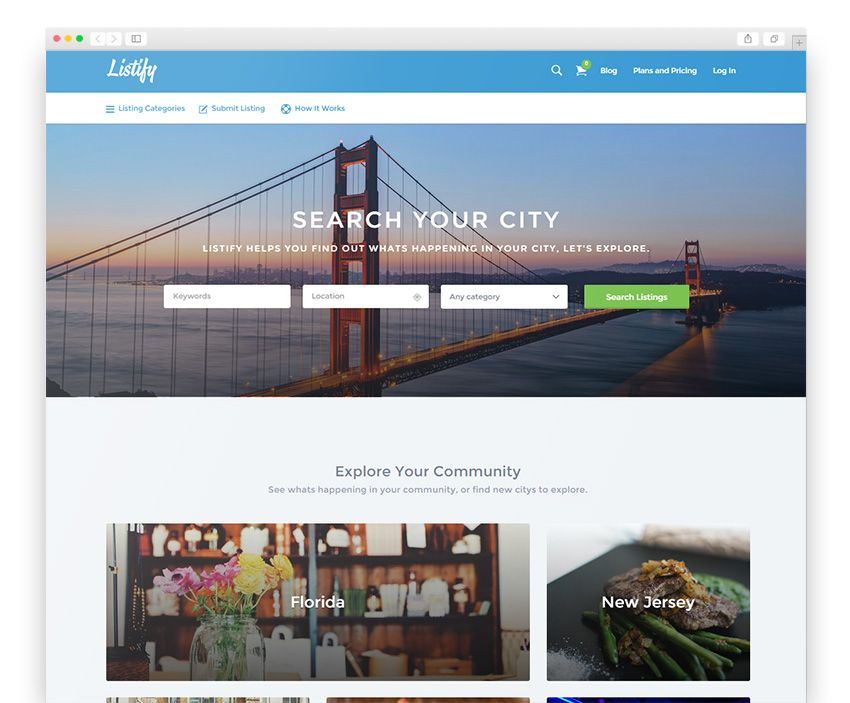 Listify Wordpress Responsive Theme | Best WordPress Themes ...