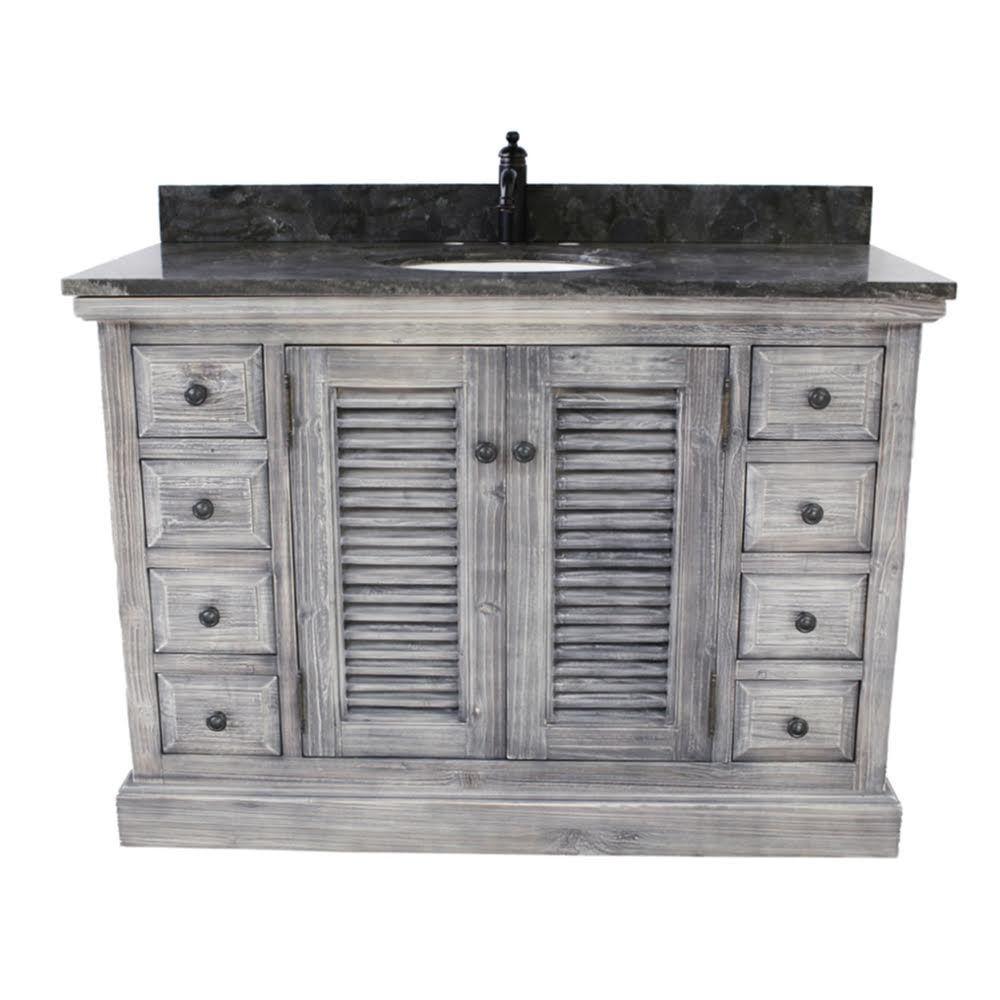 48 Inch Rustic Bathroom Vanity Stone Countertop With Images Rustic Bathroom Vanities Buy Bathroom Vanity Traditional Bathroom Vanity