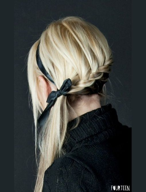 Stupendous 1000 Images About Hairstyles With Ribbons On Pinterest Ribbon Hairstyles For Women Draintrainus