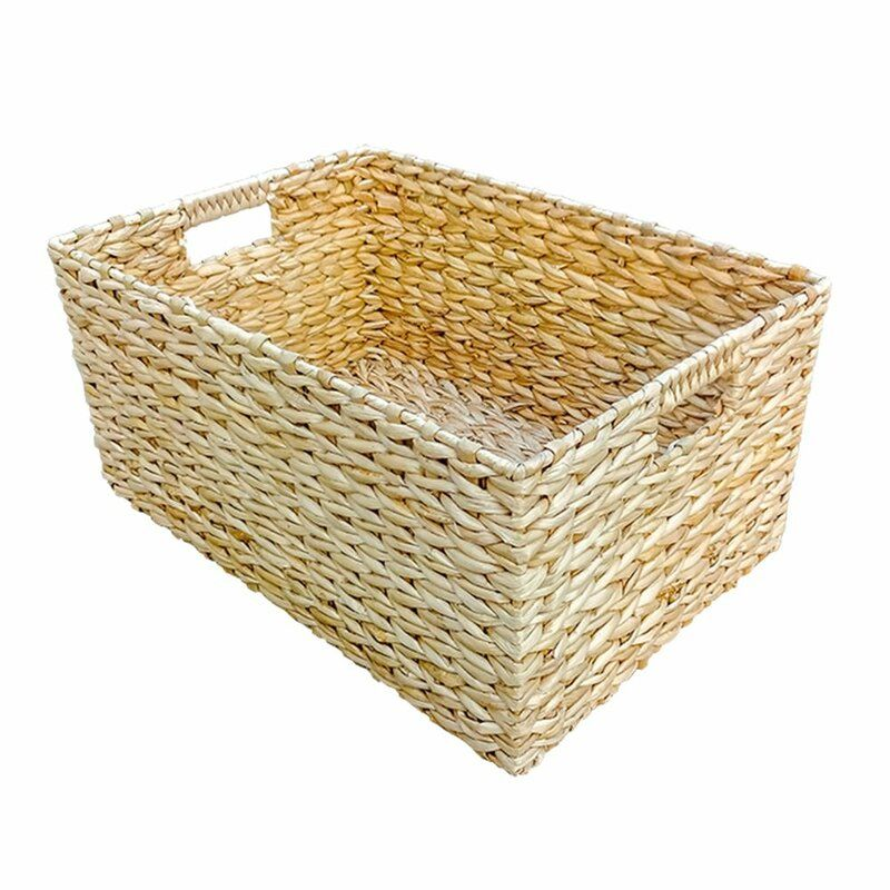 Rectangular Water Hyacinth Storage Wicker Basket Wicker Baskets Wicker Storage Baskets