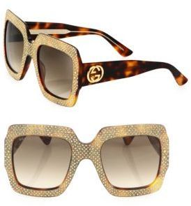 65000fb6b20 Gucci 54MM Oversized Crystal-Embellished Square Sunglasses