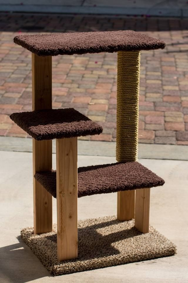 Decided to try my hand at building my own cat tree. | For ...