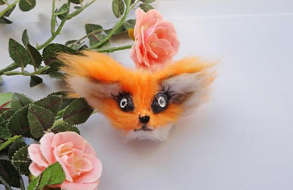 Pin by on the best products of my friends unusual gifts easter gift red fox fox fur safety pins handmade gifts magnets foxes patches negle Image collections