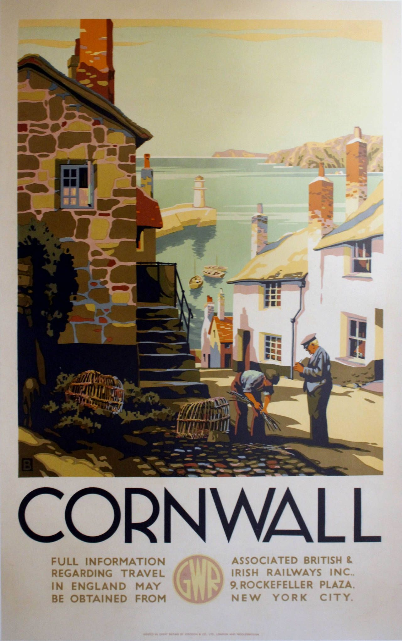 St Cornwall England Great Britain Vintage Travel Advertisement Poster Ives