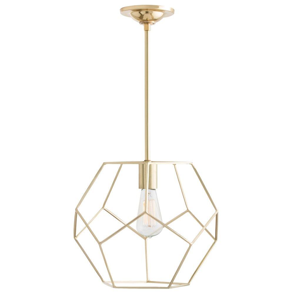 Mara Polished Brass Small Pendant Arteriors Home Lantern Lighting Ceiling