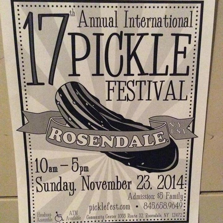We will be there - come see us!!!!Perfect pre-holiday getaway from NYC! 17 Annual International Pickle Fest, Rosendale NY! One of the best food festivals in the Hudson Valley region!