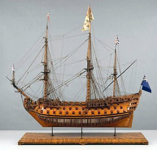 100-gun ship of the line MARS, About 1715–19, possibly Portsmouth, England.