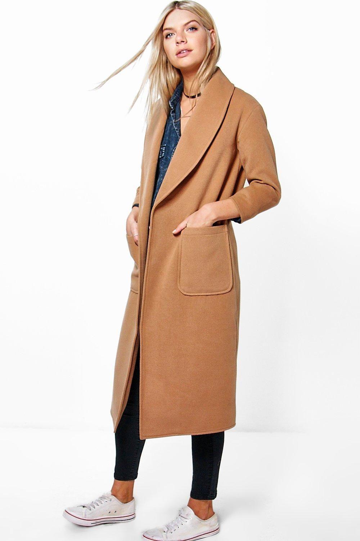Emilia Shawl Collar Robe Duster Coat Boohoo Best Winter Coats Winter Coats Women Coat