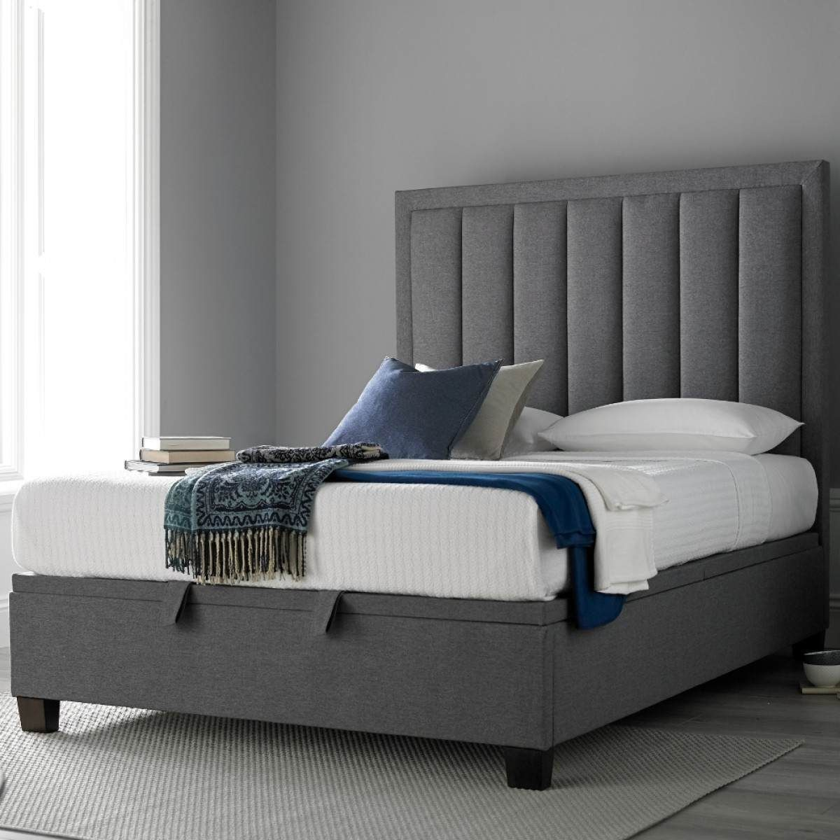 Prime Ventura Grey Fabric Ottoman Storage Bed For The Home Ocoug Best Dining Table And Chair Ideas Images Ocougorg