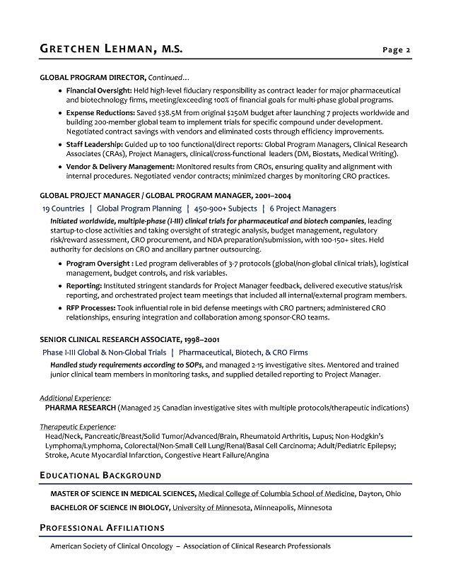 Program Manager Sample Resume Biotech Sample Resume Resume Writer For Biotech R D Leaders Manager Resume Project Manager Resume Resume Examples
