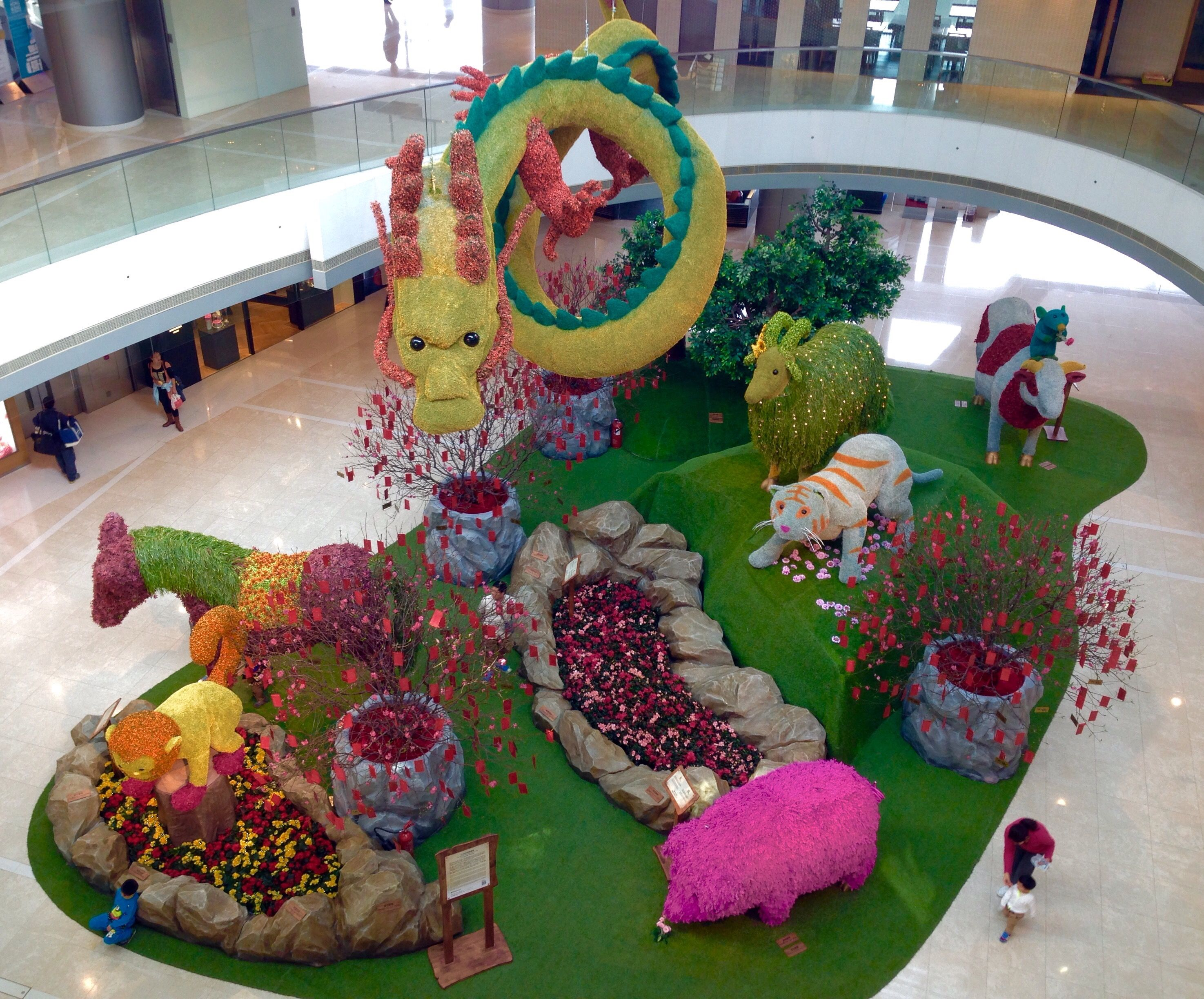 Mini Garden Of 12 Chinese Zodiacs At Ifc ,Hk 1