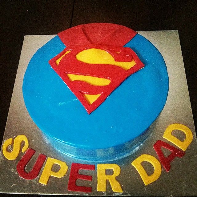 "DAD! A Son's first Hero. A Daughter""s first Love. #SheBakes #fathersday2015 #fathersday #father #Love #superdad #superman #Marvel #clarkkent #superhero #Nerd #BakeMyCake #Bakery #AllGoodThingsOfLife #Baker #homebakers #homechef #chef #cheflife #desserporn #DessertTime #Cake #Instagram #Instaclick #instadaily #instalike #instapic #latergram"