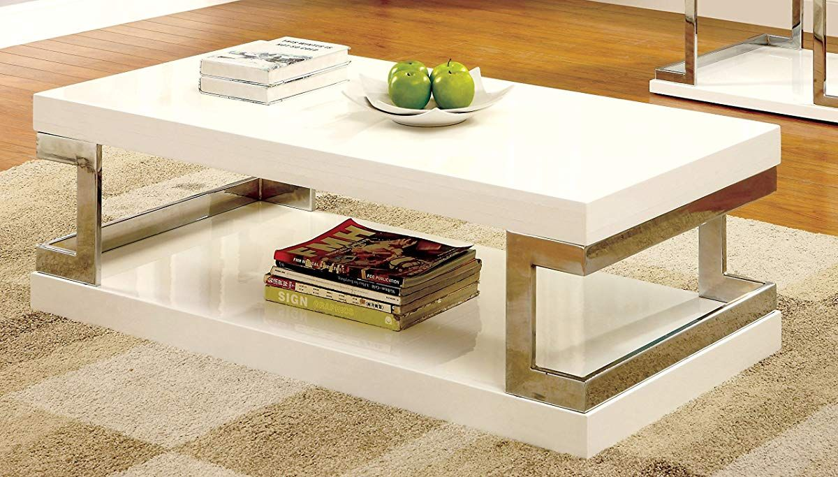 Modern Coffee Table White Contemporary Coffee Table Coffee Table Table Decor Living Room [ 683 x 1200 Pixel ]