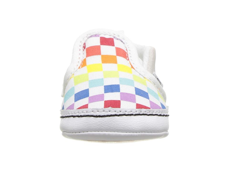 Vans Kids Slip-On V Crib (Infant Toddler) Girls Shoes (Checkerboard ... 566ed911f