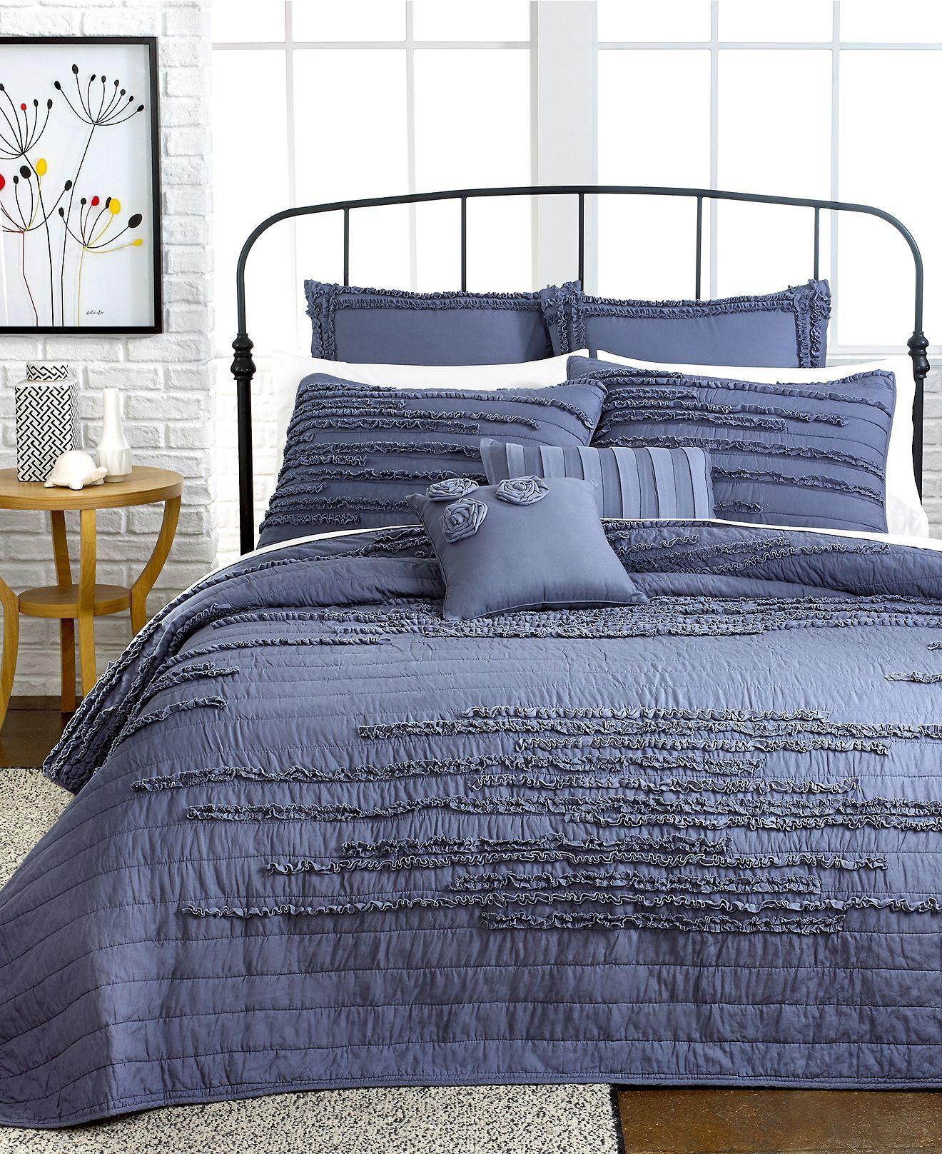 Nostalgia Home Neveah Blue Quilts   Quilts U0026 Bedspreads   Bed U0026 Bath    Macyu0027s