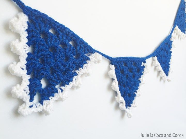 Pool Party Summer Crochet Bunting - Julie is Coco and Cocoa