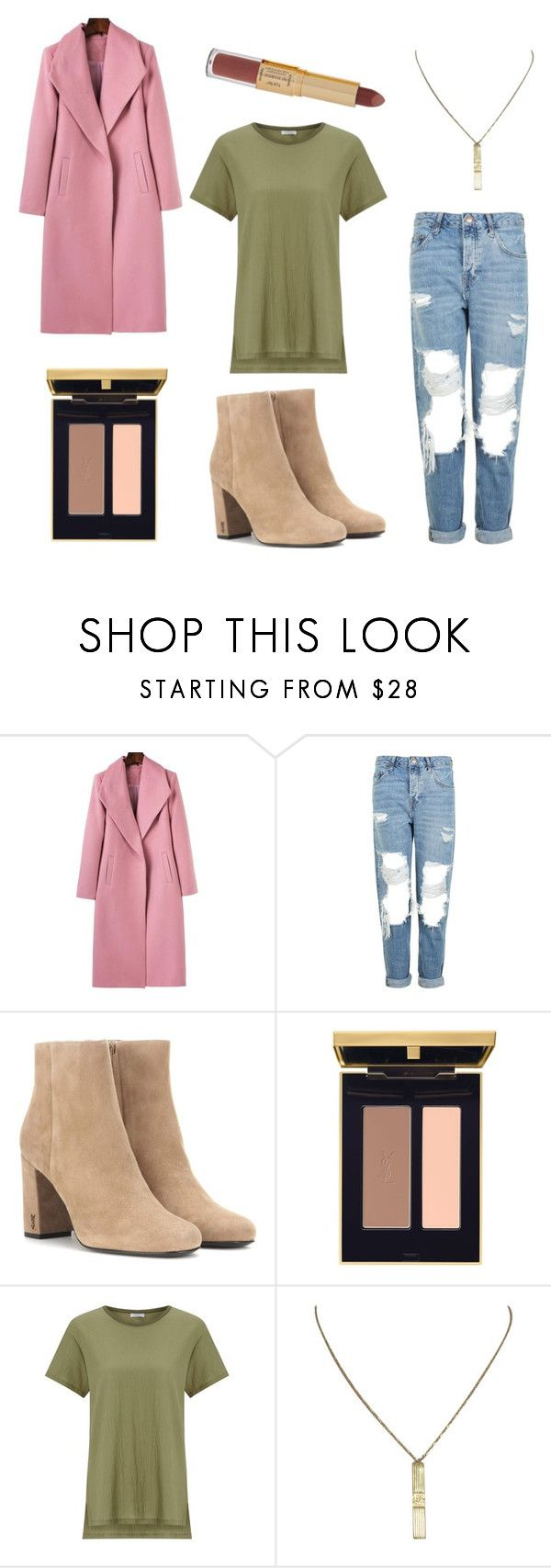 """""""Untitled #94"""" by marugc ❤ liked on Polyvore featuring Topshop, Yves Saint Laurent, Jigsaw, Christian Dior and tarte"""