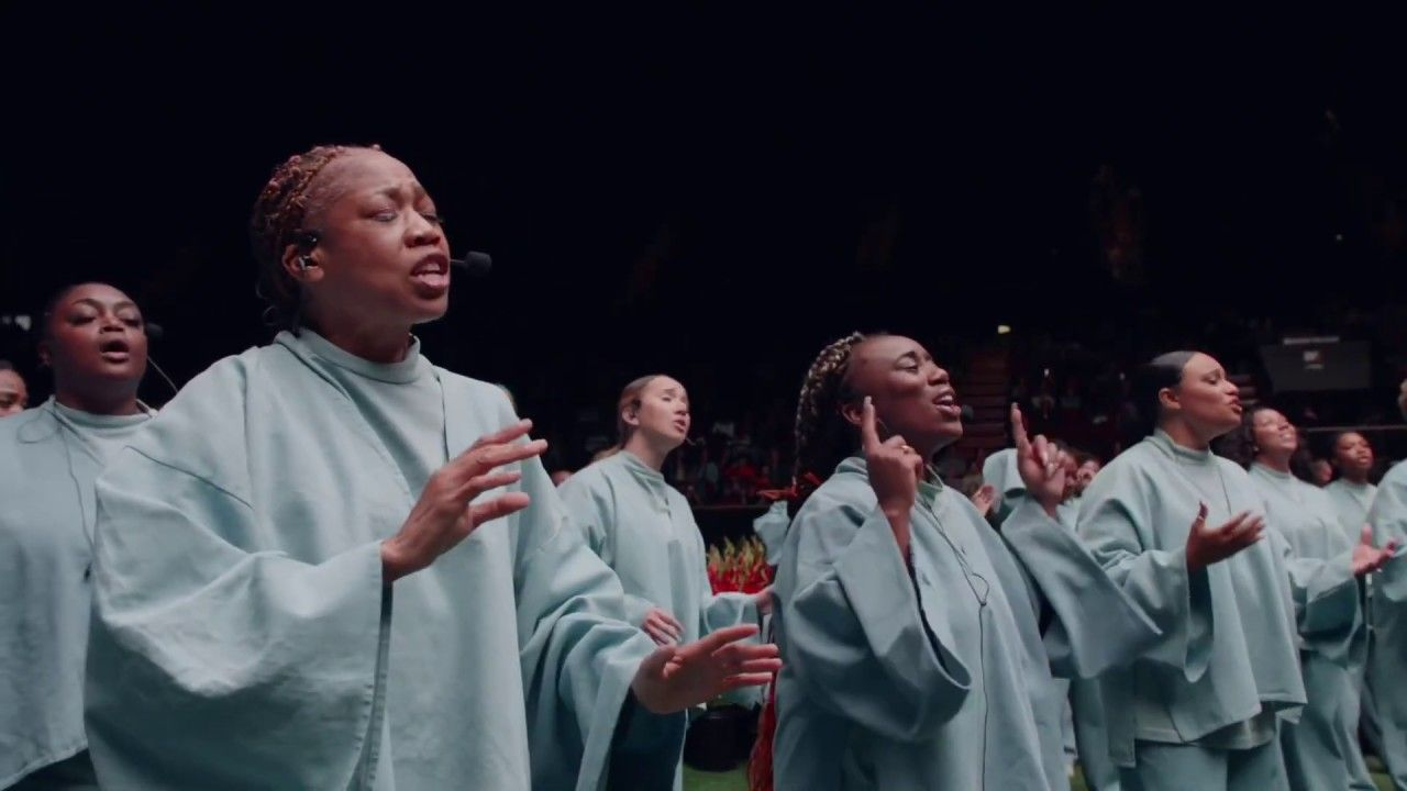 Kanye West Sunday Service Hallelujah Salvation And Glory Live Fro In 2020 Kanye West Choir Gospel Choir