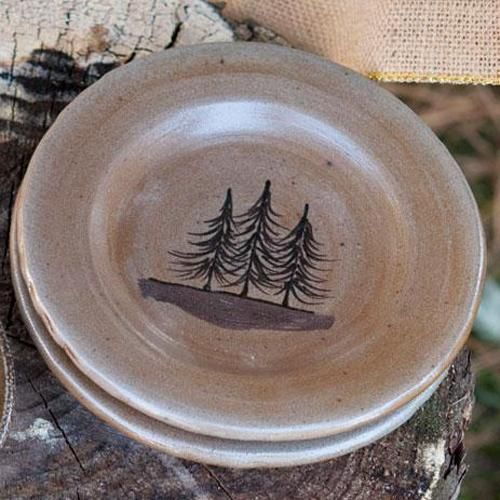 Rustic Dinnerware - Make every meal a delightful experience by serving friends and family on rustic dinnerware and western dishes from Rocky Mountain Cabin ... & Northwoods Dessert Plate | Rockymountaindecor - Cabin Decor ...