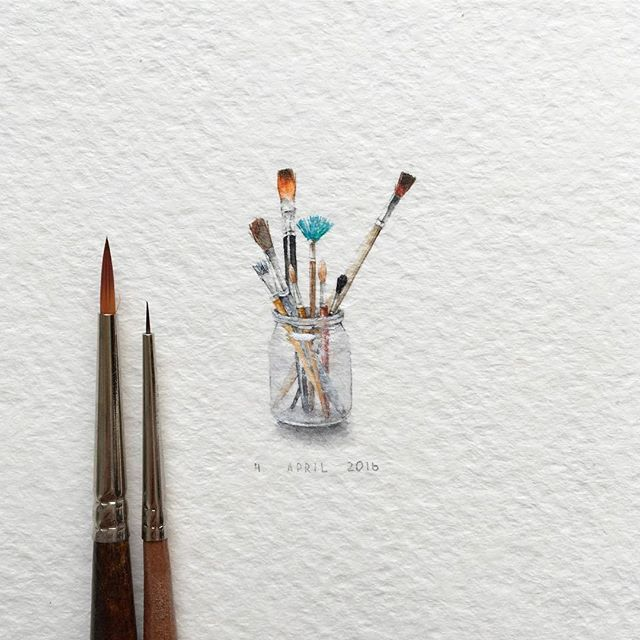 Watercolorist Irene Mia Waterblog Akvarel Aquarelle