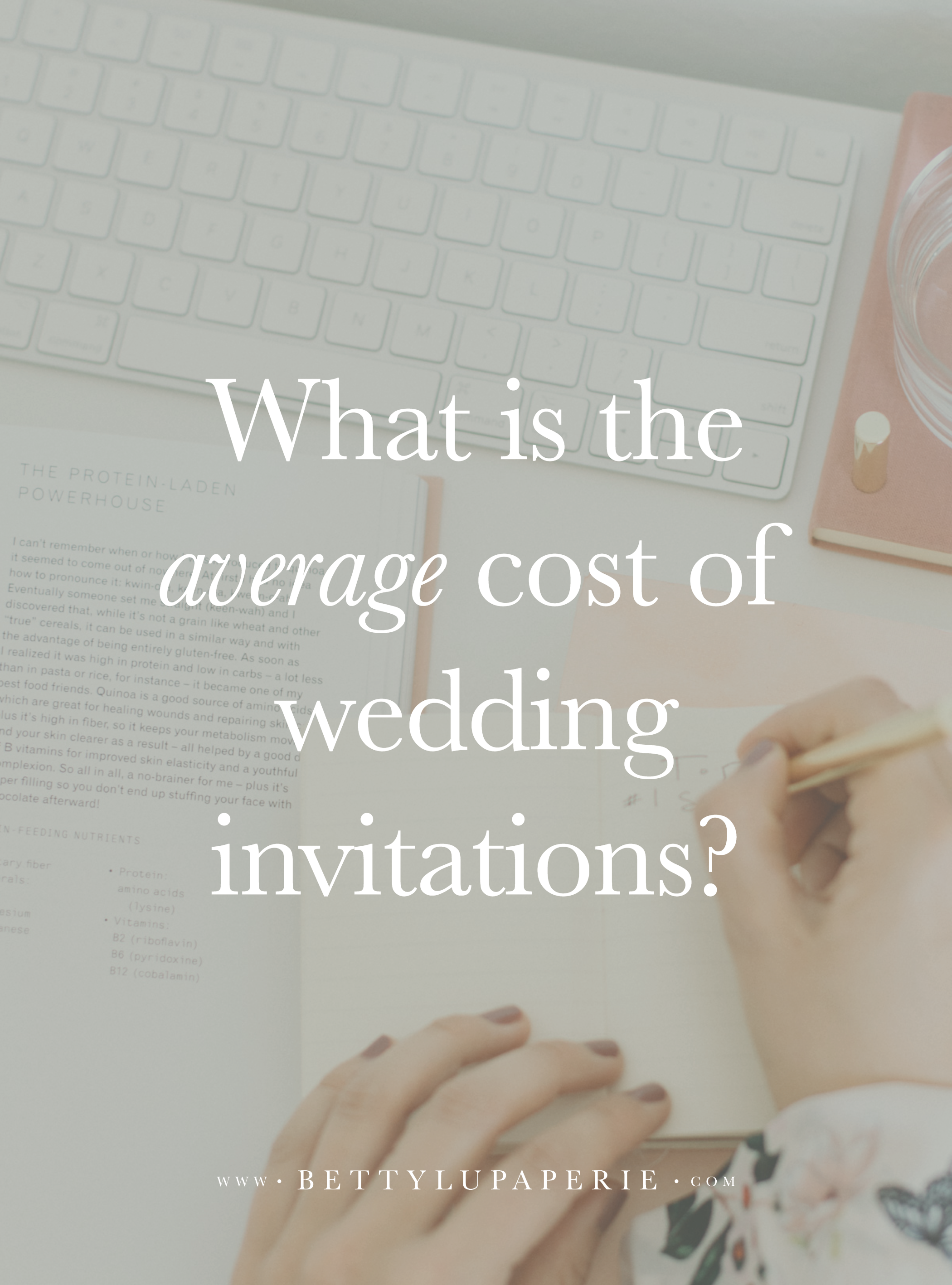 What is the Average Cost of Wedding Invitations? Wedding