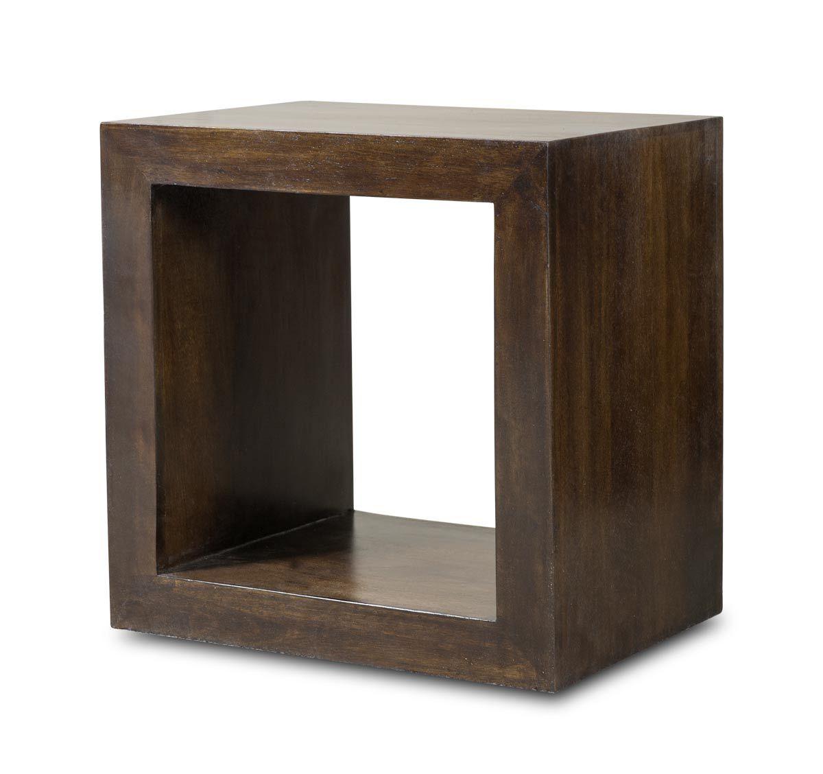 Dakota Dark Mango Cube Side Table Akuarium Mango [ 1128 x 1200 Pixel ]