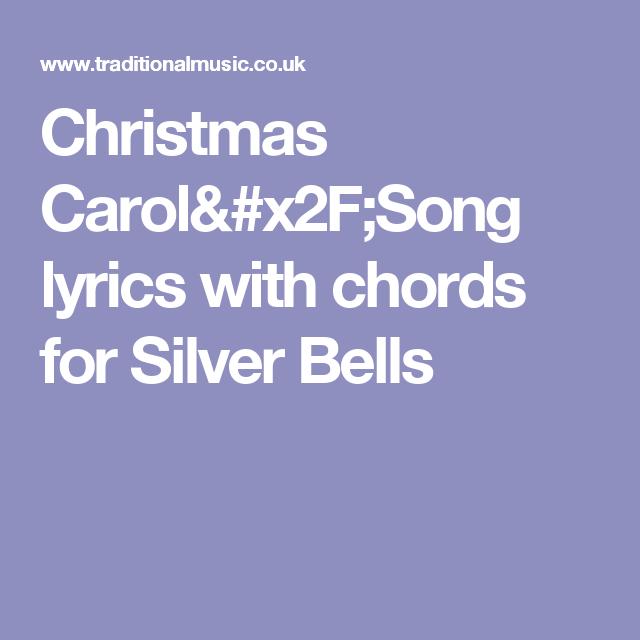 Christmas Carol/Song lyrics with chords for Silver Bells | Ukulele ...