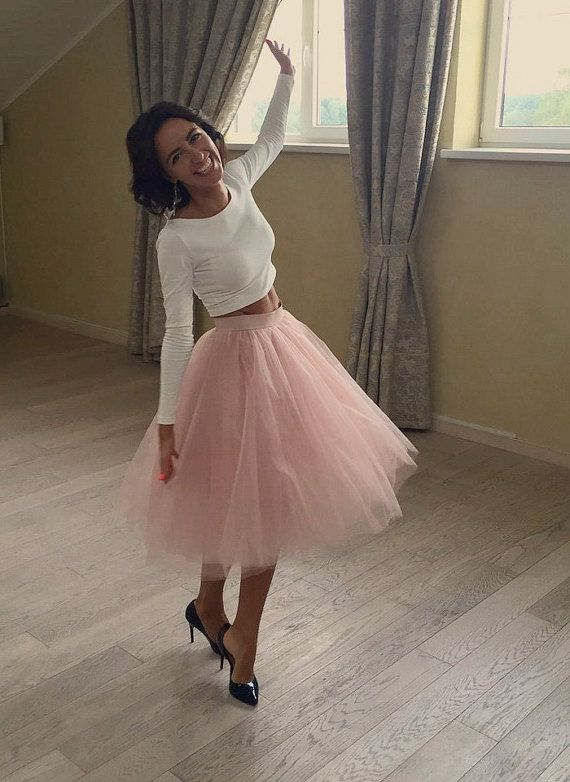 Blush pink tutu Extra full skirt Birthday tutu Baby prop tutu Adult tulle Plus size skirt Flower girl tutu Wedding skirt Reception dress Wonderful tulle skirt from very soft 6 layers of tulle for every day or special occasion. Full lining. This Tulle skirt is Made To Order, please #fullskirtoutfit