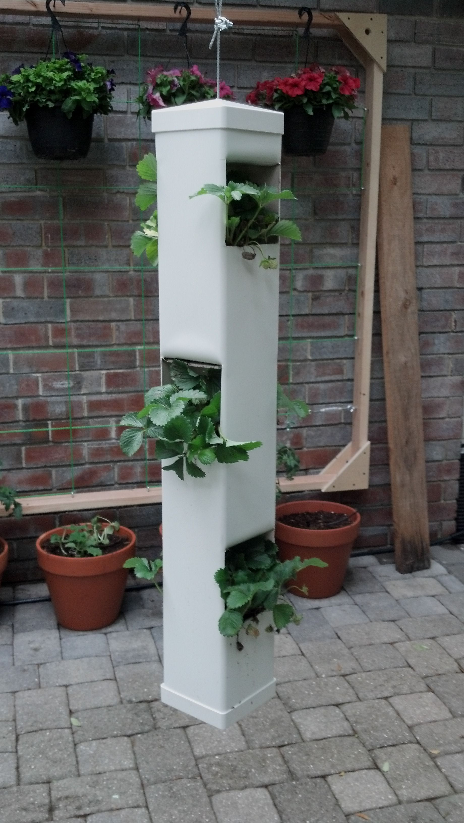 Simple Hanging Planter Made With A Pvc Fence Post Two