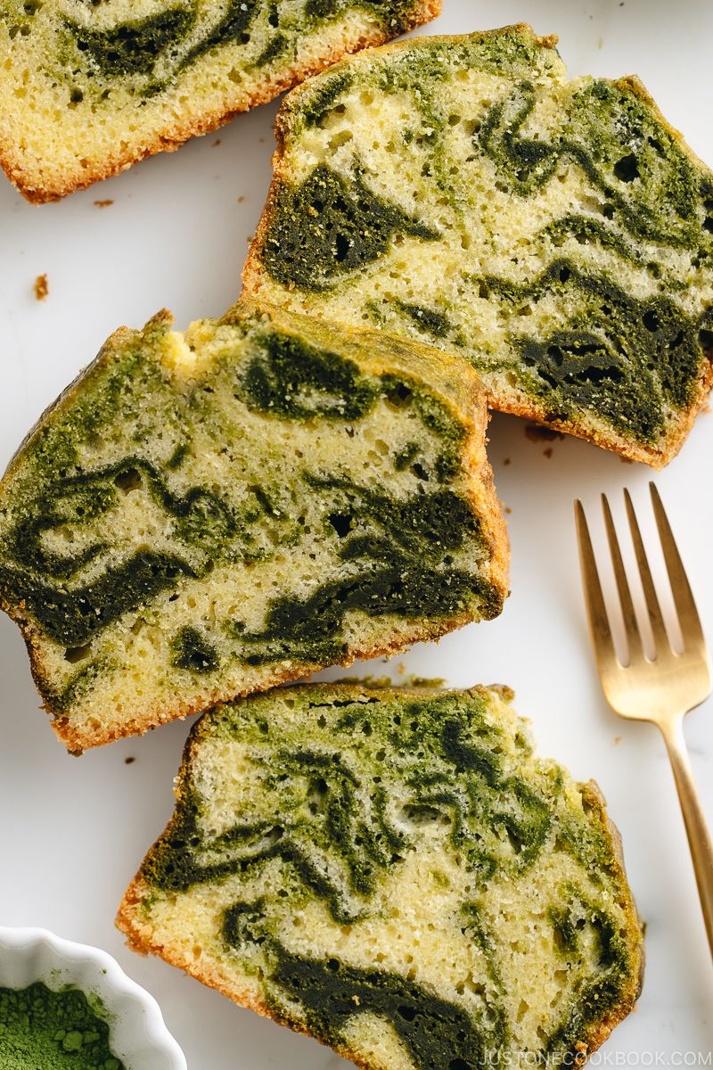 Photo of Matcha Marble Pound Cake 抹茶マーブルパウンドケーキ • Just One Cookbook