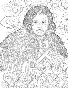 Daenerys Game Of Thrones Coloring Page Colouring Pages Coloring Pages For Grown Ups Colorful Drawings