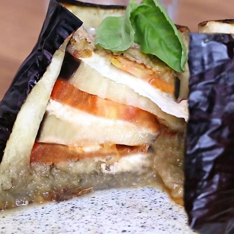 Cuisinez comme un chef avec la recette de lAubergine farcie à la tomate et à la mozzarella !
