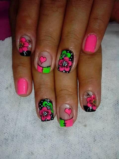 Pin De Rosana Galoc En Unas De Flores Gel Nail Art Nail Art Y