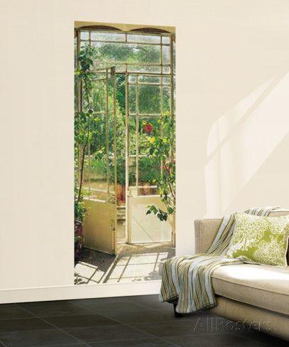 Gartentür Türposter Wandgemälde Fototapeten Tapeten Pinterest - Stein Tapete Wohnzimmer Ideen
