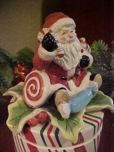 Nib Fitz Amp Floyd 2007 Peppermint Stripe Santa Candy