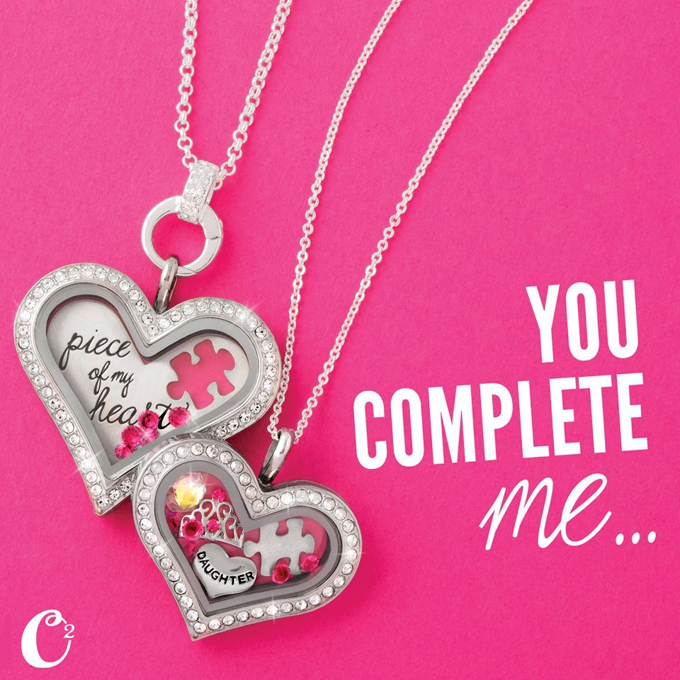 You complete me origami owl heart lockets heart locket origami you complete me origami owl heart lockets now in medium and large size create jeuxipadfo Images
