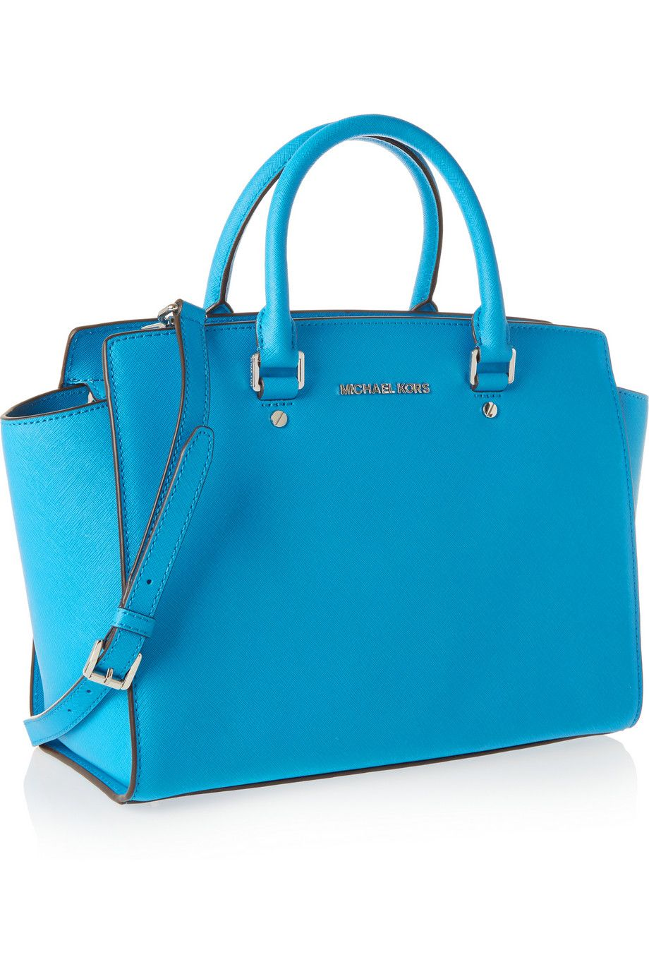 Add a bright splash of blue to any outfit with this MICHAEL
