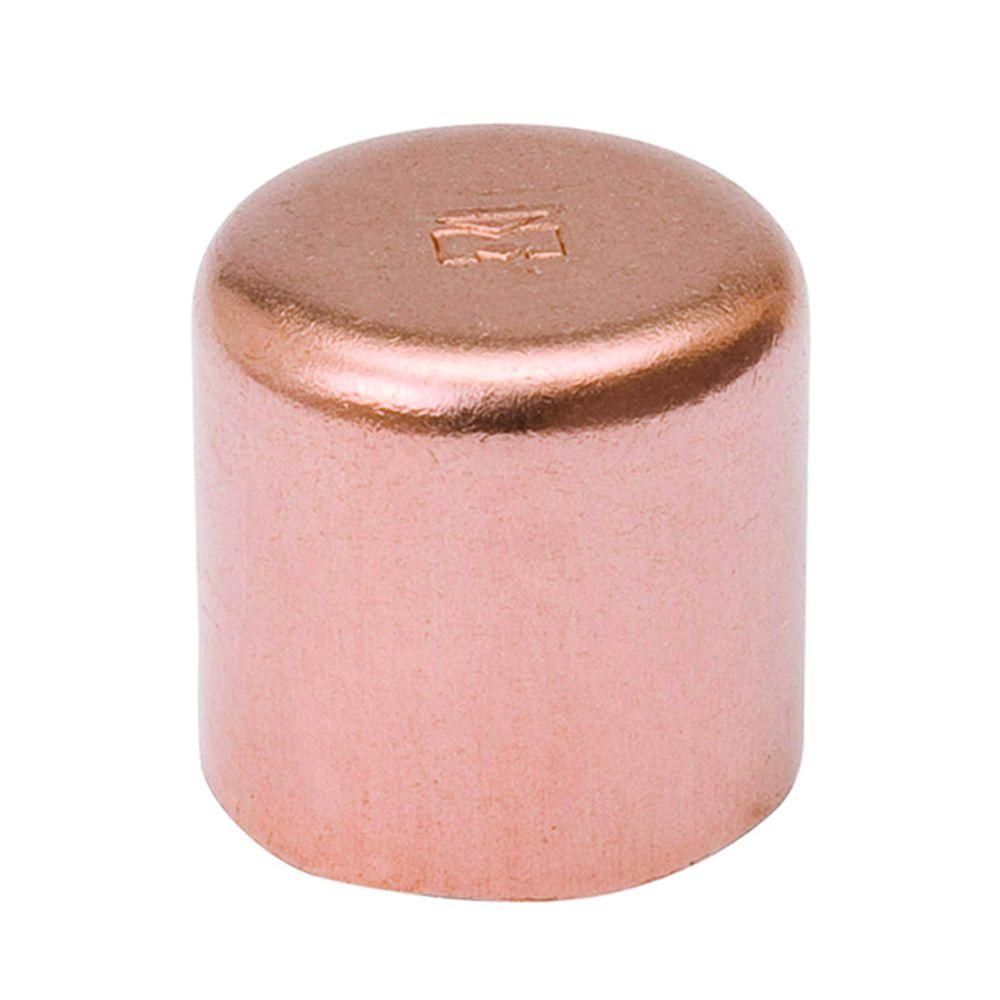 Mueller Streamline 1 2 In Copper Cap 25 Pack W 07007p25 The Home Depot Streamline Copper Water Supply