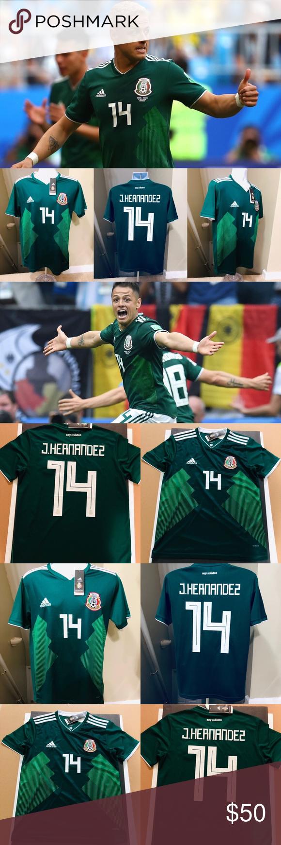 "b5243e8a3 J Hernández #14 Mexico Chicharito Soccer Jersey 2018 Mexico World Cup  Jersey Javier Hernández #14 aka ""Chicharito Mexico National Football Team  Brand New ..."