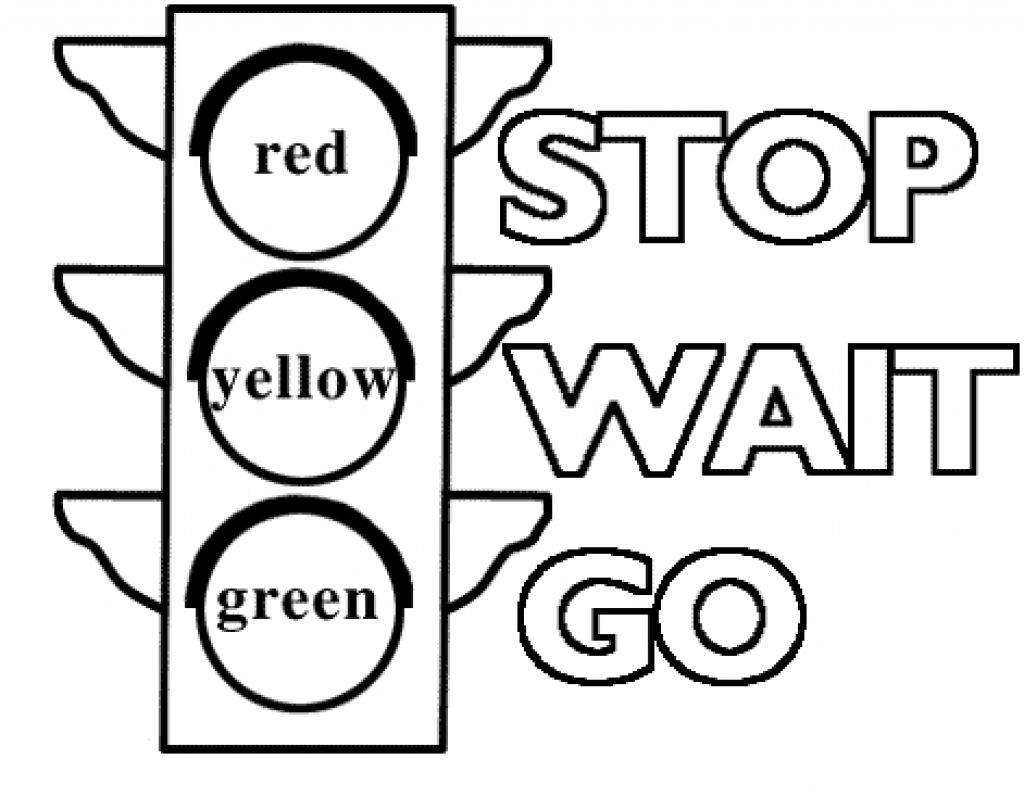 stop light coloring page # 1