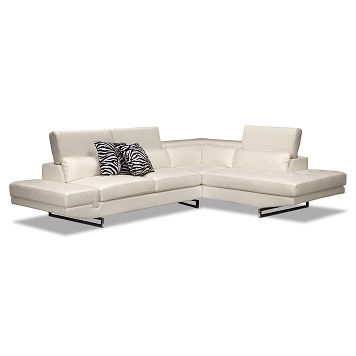 Madrid Leather 2 Pc Sectional Value City Furniture 1 199 99