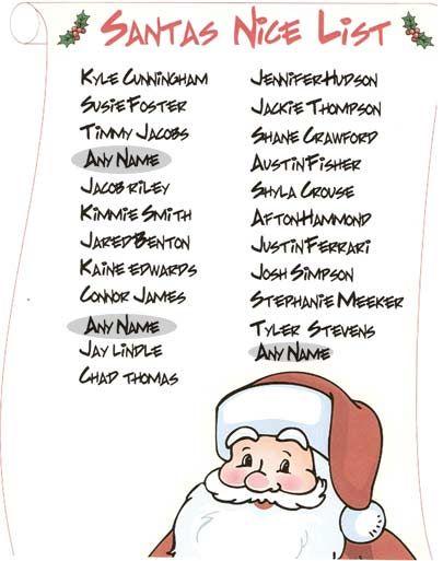 santa claus naughty list santa list creator add as many names you