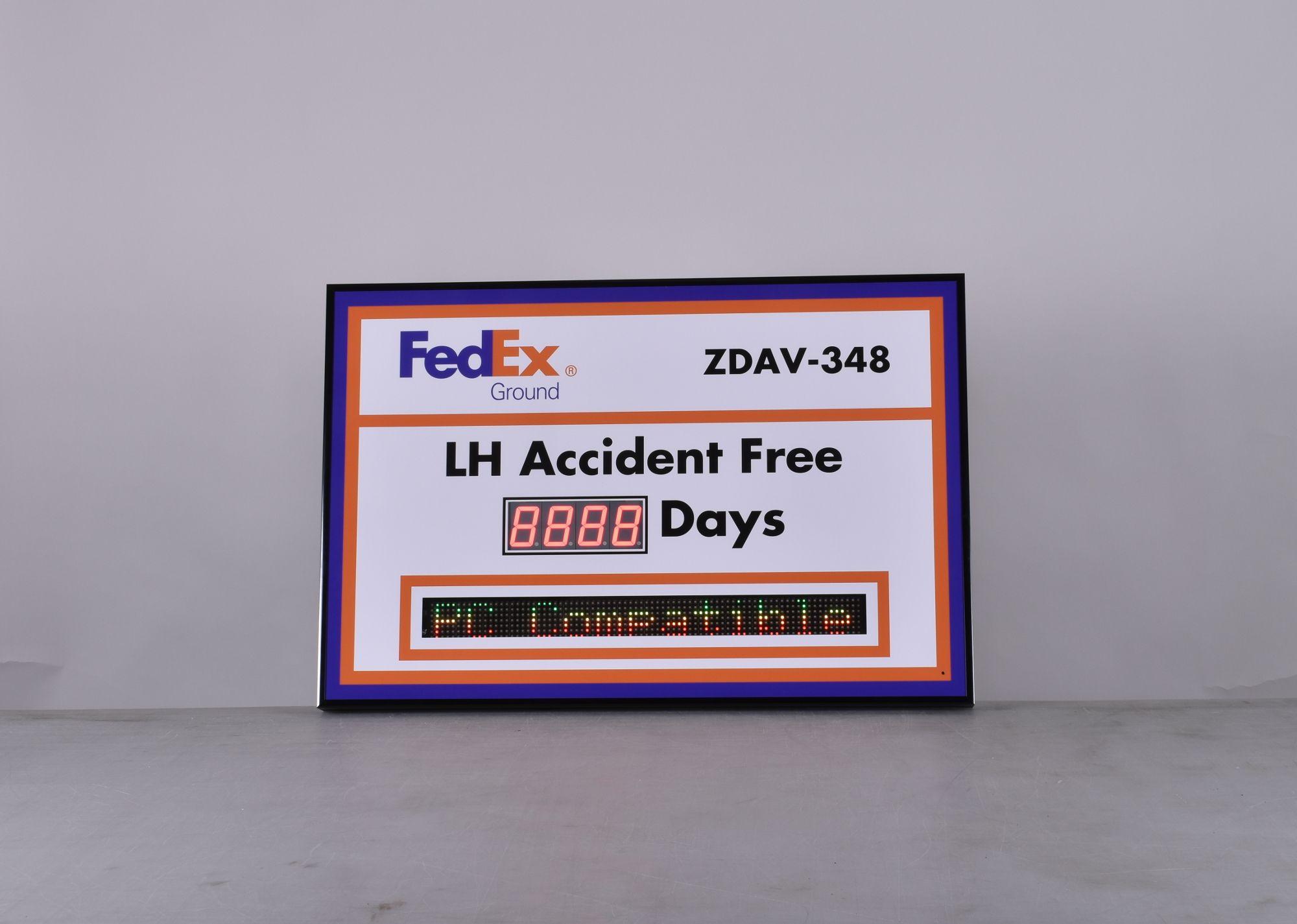 Scrolling Message Digital Safety Scoreboard Sign (24Hx36W