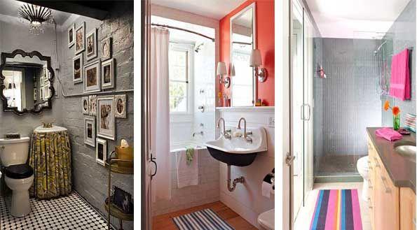 35 fotos e ideas para decorar un cuarto de ba o peque o y moderno ba os pinterest ba os - Decoracion de cuartos de bano pequenos ...