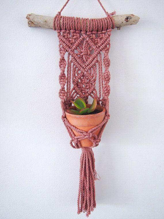 Photo of Macrame Plant Hanger Wall Hanging fits Mini Pot Indoor Vertical Garden Handcraft…