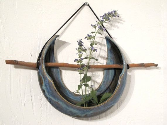 Wall Hanging Ikebana by SnowMoonFlowerStudio on Etsy