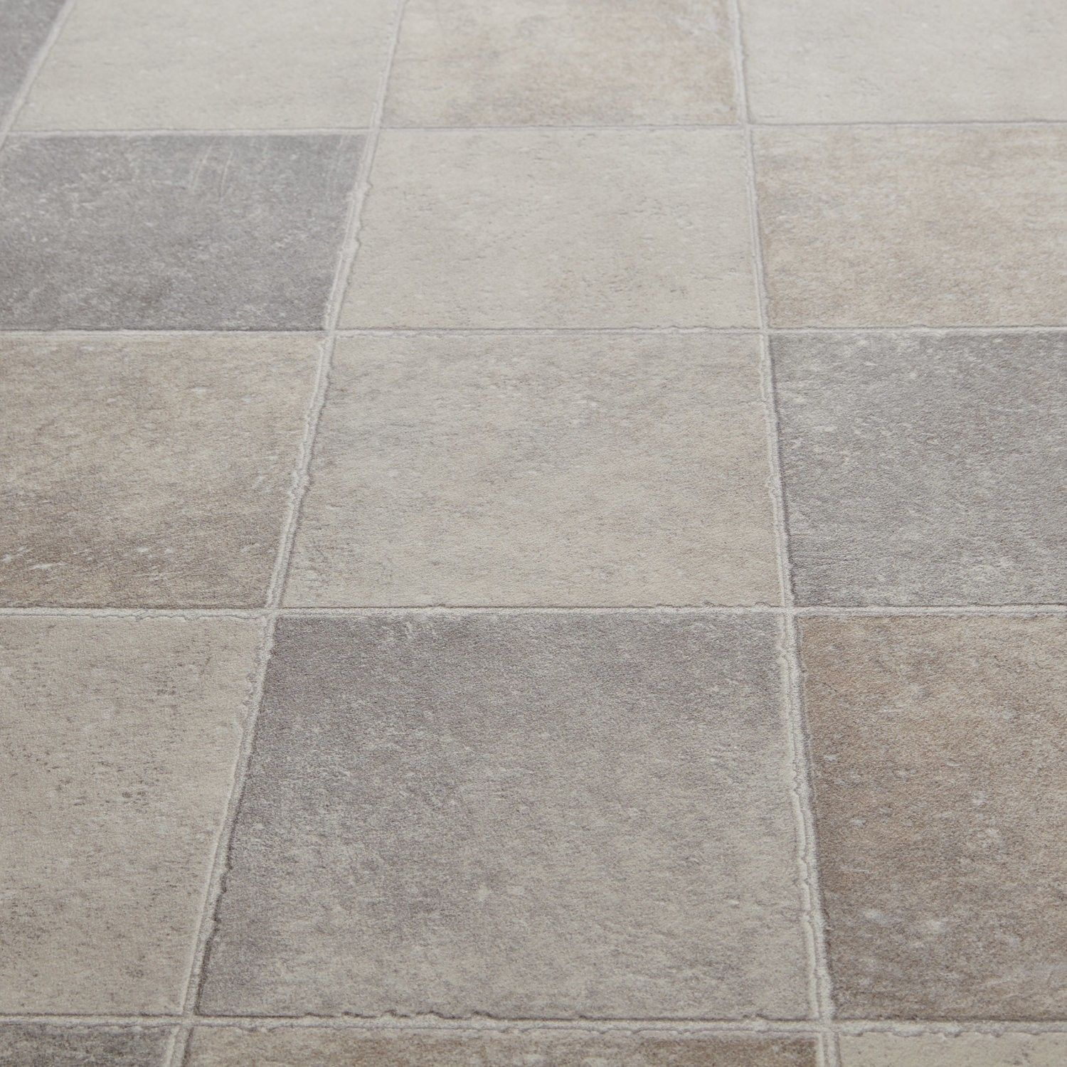 Floorgrip 592 pompei stone tile effect vinyl for Vinyl floor covering